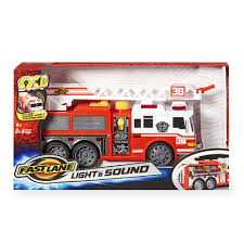 Fast Lane Light And Sound Vehicle - Fire Truck - Fast Lane - Toys