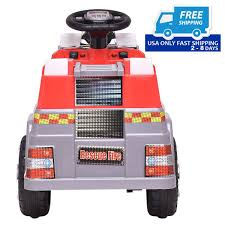 6 V Kids Ride On Rescue Fire Truck – By Choice Products