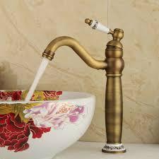 einhand waschtischarmatur bad antik messing kalt und warmwasser
