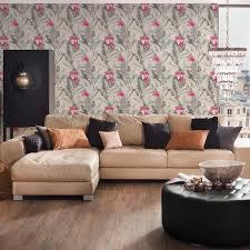 a s création vliestapete tapete tropisch floral natürlich grau rosa schwarz