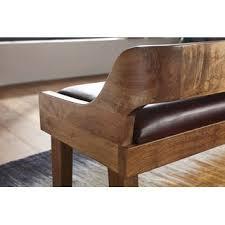 wohnling sitzbank echtleder massivholz bank 108x63x43 cm