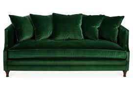 dumont 85 velvet sofa emerald one kings lane коллажи