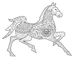 Horse Adult Coloring Page