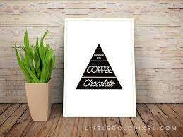 Kitchen Free Printables O Chocolate And Coffee Faux Food Pyramid Printable Little Gold Pixel