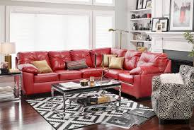 Value City Red Sectional Sofa by The Ricardo Sectional Collection Cardinal Value City Furniture