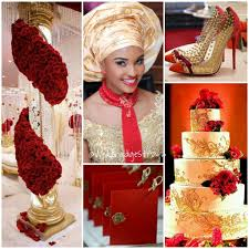 Choosing Your Wedding Colors Red Gold Color Scheme