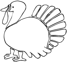 Turkey Coloring Page Free Printable Feather Pages Full Size