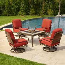 Hampton Bay Patio Furniture Cushion Covers by Hampton Bay Oak Cliff 5 Piece Metal Patio Fire Pit Conversation