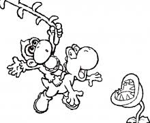 Yoshi Colouring Pages 20 Printable Coloring For Kids In