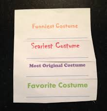 Free Printable Halloween Potluck Signup Sheet by Diy Costume Contest Ballots Halloween Ideas Pinterest Diy
