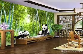 3d Room Wallpaer Custom Mural Photo Panda Bamboo Landscape Background Wall Painting Murals Wallpaper For Walls 3 D Nature Desktop