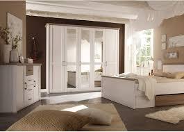luca eleganter kleiderschrank im landhausstil 5 türig vielseitiger drehtürenschrank mit drei spiegeltüren in pinie weiß trüffel 241 x 212 x 62