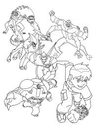 Ben 10 Coloring Pages Four Arms Online Free Heatblast Download Printable Book Full Size
