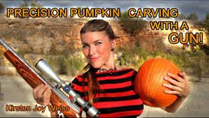 Funny Pumpkin Carvings Youtube by Precision Pumpkin Carving With A Gun Shooting Game Youtube