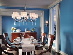 Blue Paint Color Schemes For Dining Room Chandelier With Drum Shade