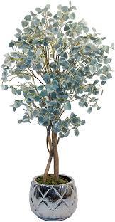 maia shop eukalyptus mit natürlichen stämmen ideal für die inneneinrichtung baum künstliche pflanze 105 cm green eucalyptus