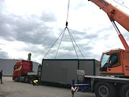 100 Wood Gasifier Truck First Burkhardt Container System Unit Delivered Burkhardt