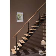 escalier 2 quart tournant leroy merlin escalier droit escatwin structure aluminium marche bois leroy merlin