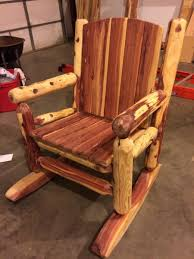 Cedar Log Rocking Chair - Project Journals - Wood Talk Online Lakeland Mills Patio Glider With Contoured Seat Slats Briar Hill Adirondack White Cedar Outdoor Rocking Chair 5 Rustic Low Back Rocker Chairs The Ozark New York Craftsman Style Fniture Traditional Porch Sunnydaze Decor Fir Wood Log Cabin Loveseat Fan Design 2person 500 Lbs Capacity Generations Chaircedar Unfinished Branded Fish 25w X 36d 39h 23 Wide Swivel Natural High Double