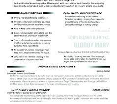Resume For Bartenders Bartender Description Sample Resumes Job Cv Template
