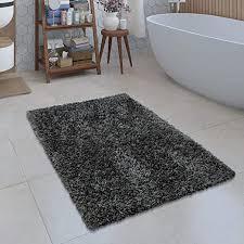 moderner badezimmer teppich einfarbig microfaser kuschelig