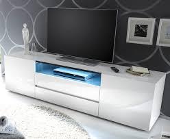 tv lowboard vicenza in weiß hochglanz lackiert fernsehtisch 185 x 49 cm