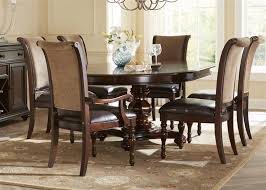 kingston plantation oval pedestal table 5 piece dining set in hand