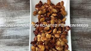 Toasting Pumpkin Seeds In Microwave by Honey Cinnamon Roasted Pumpkin Seeds Youtube