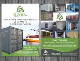100 Storage Unit Houses Serious Professional Shipping Flyer Design For Gael