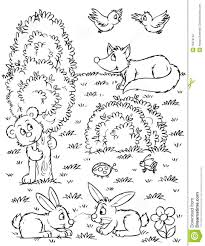 Forest Animals Coloring Pages Inside With