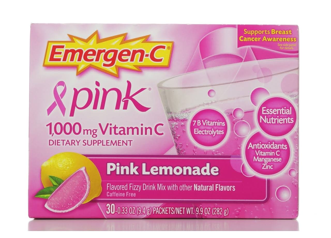 Emergen-C Vitamin C Supplement - Pink Lemonade