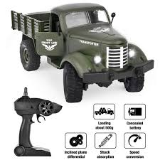 100 Radio For Trucks Rainbrace RC Military Truck Control 116 All Terrain Remote Control Military Truck 24Ghz 4WD RTR Controller Electric RC Off Road
