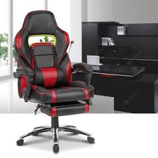 LANGRIA Ergonomic High-Back Faux Leather Racing Style Reclining Computer  Gaming Executive Office Chair With Padded Footrest And Lumber Cushion, ... Dke Fair Mid Back Office Chair Manufacturer From Huzhou Fulham Hour High Back Ergonomic Mesh Office Chair Computor Chairs Facingwalls Adequate Interior Design Sprgerlink Proceed Mid Upholstered Fabric Black Modway Gaming Racing Pu Leather Unlimited Free Shipping Usd Ground Free Hcom Highback Executive Heated Vibrating Massage Modern Elegant Stacking Colorful Ingenious Homall Swivel Style Brown
