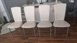 4 esszimmer stühle weiß