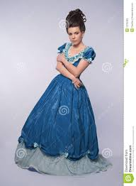 old fashioned in blue dress stock photos image 19795363