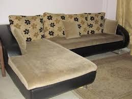 the l shaped fabric sofa set regular size pillows washable seat