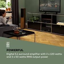 auna 218 bt 5 1 digital surround karaoke lifier verstärker ausgangsleistung 2 x 120 watt 3 x 50 watt rms bluetooth verstärker usb
