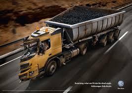 Volkswagen Print Advert By Grabarz & Partner: Dead Angle Truck, 1 ...