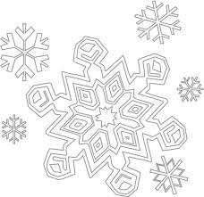 Snowflake Coloring Pages Free