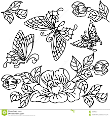 Flowers and butterfly stock illustration Illustration of flowers