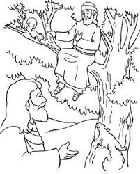 Zacchaeus Tree Bible Coloring Pages