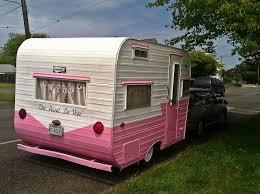 Cute Pink Retro Camper Photo 1 Of 2