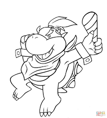 Impressive Bowser Jr Coloring Pages With And Mario Fighting