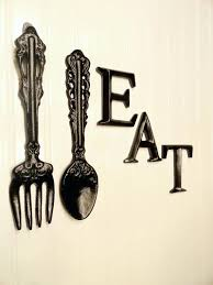 Fork Spoon Wall Art Black Kitchen Decor Large By And For Sale
