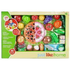 Hape Kitchen Set Canada by Just Like Home 35 Piece Jumbo Slice U0026 Play Food Set Styles May