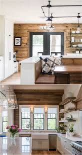 A Pallet Wall Can Be Used As Great Accent The Natural Wood Adds Warmth To Black And White Kitchen Or Room With Splashes Of Color