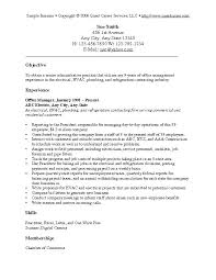 Samples Of Resume Summary Tradesman Sample Plumber