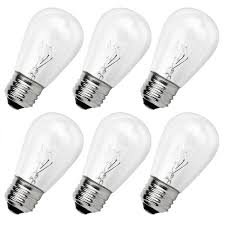 newhouse lighting outdoor s14 incandescent replacement bulbs 6 pack