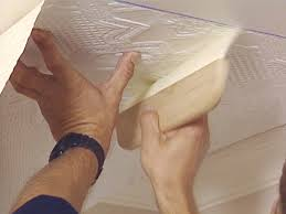 how to apply an embossed wallpaper ceiling treatment how tos diy