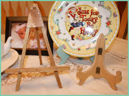 Full Size Of Beige Wooden Single Plate Holder For Ornamental White Ceramic Character Pattern With
